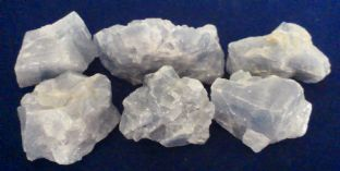 Calcite - Blue - Rough 91.5-3cm) x 6